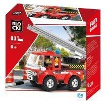 klocki blocki pepco straż pożarna wóz strażacki z drabiną zabawki pepco