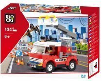 klocki blocki pepco straż pożarna podnośnik wóz strażacki zabawki pepco