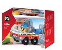 klocki blocki pepco straż pożarna wóz strażacki zabawki pepco