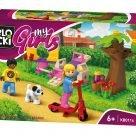 klocki BLOCKI MyGirls blocki my girls friends kb0110 spacer po parku plac zabaw