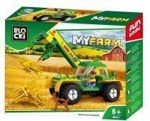 BLOCKI MyFarm ładowarka traktor z chwytakiem