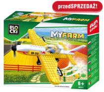 BLOCKI - MyFarm Samolot do oprysków pola KB0312