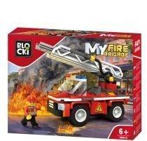 klocki BLOCKI - MyFireBrigade Wóz strażacki z podnośnikiem KB0818