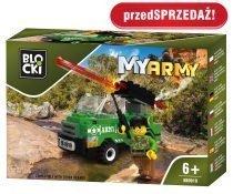 klocki BLOCKI - MyArmy Wóz z działem KB0919